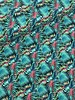 fluo green leaves - bathing suit fabric