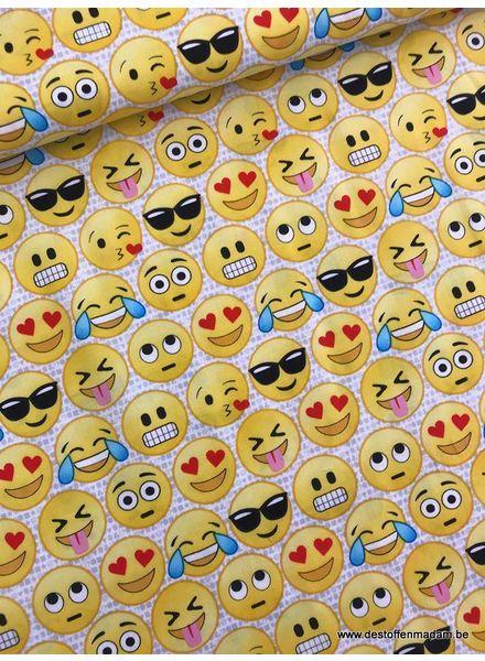 Timeless Treasures Fabrics emoticons - cotton