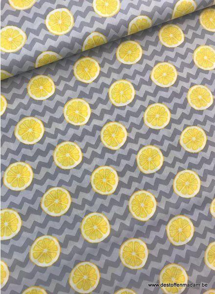 citrons grey - cotton