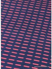 bordeaux marineblauw - viscose tricot