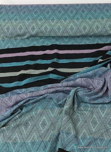 turqoise stripes pattern - viscose jersey