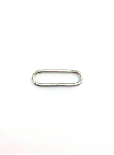 ronde passant zilver 38mm