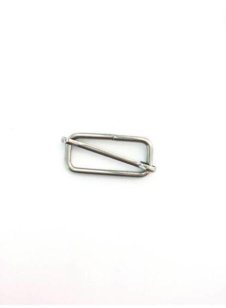 Schuifgesp zilver 32mm