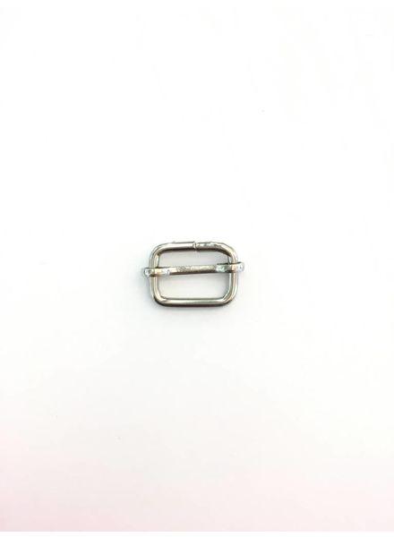 schuifgesp zilver 20mm