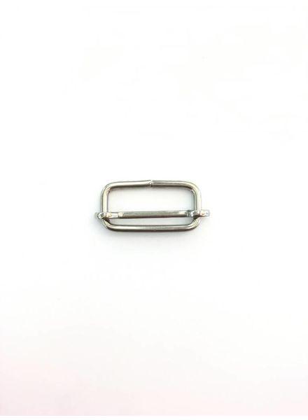 schuifgesp zilver 25 mm
