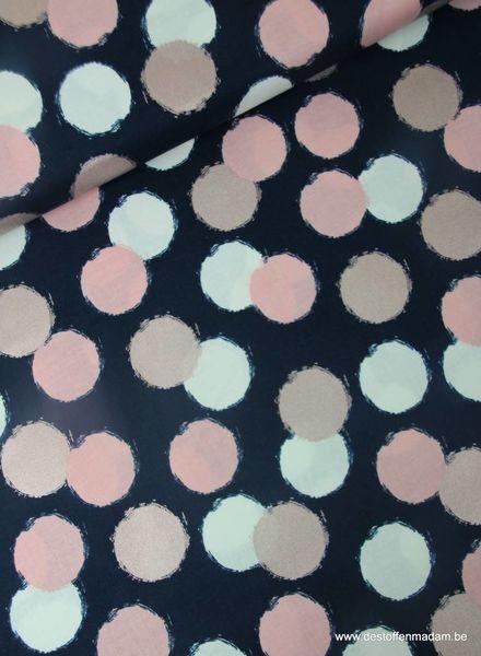 blush puffs blue - katoen