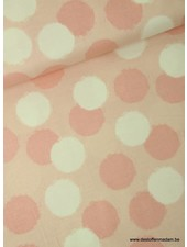 pink blush puffs  - katoen