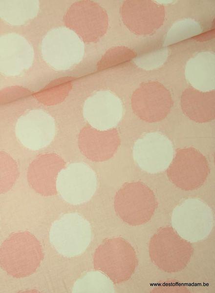 pink blush puffs  - cotton