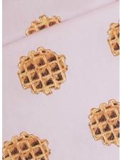 Waffle - Cotton Lawn - Gesluierd Roze