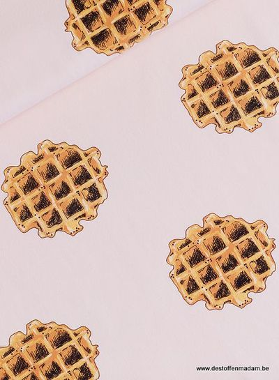 Waffle - French Terry - Veiled Pink