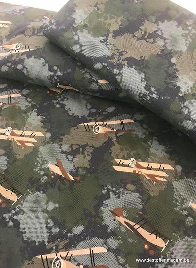 vliegtuig legerprint - tricot