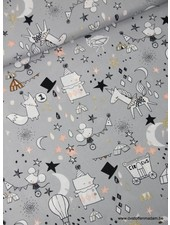 grey mice and unicorns - cotton