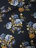 brown flowers in dark blue space - viscose