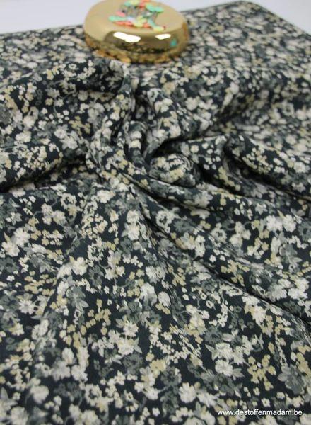 little taupe flowers  - Italian crepe