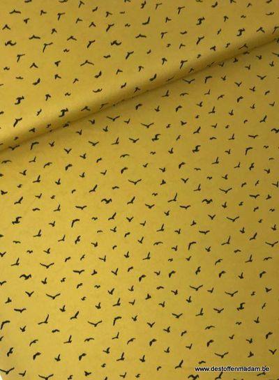 bird flight ochre - satin