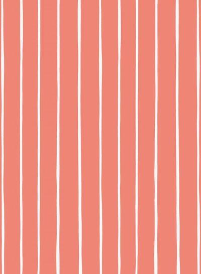 koraal stroken Eva Mouton -  french terry