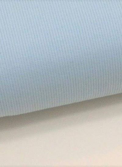 blauwe stof Eva Mouton - french terry