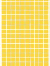 gele raster Eva Mouton - french terry