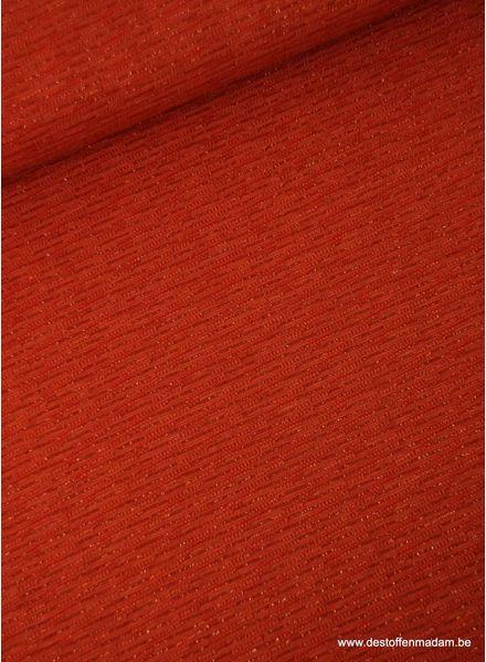 rode gebreide tricot met lurex