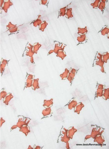 Shannon Fabrics vosjes - tetra stof