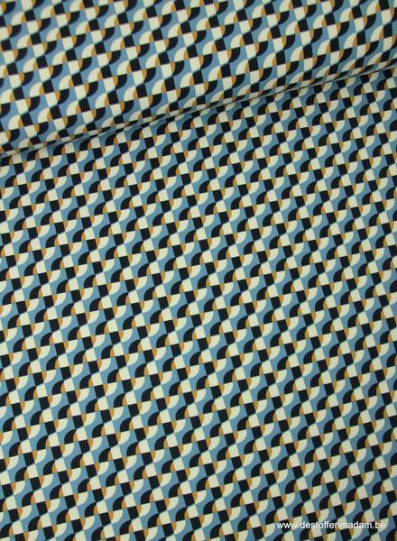 blauw goud golvend - tricot