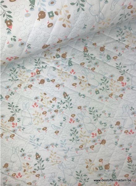 rabbits - quilted cotton