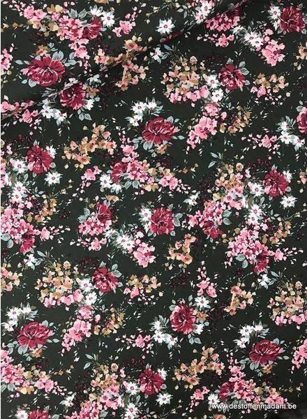 flowers popeline - cotton