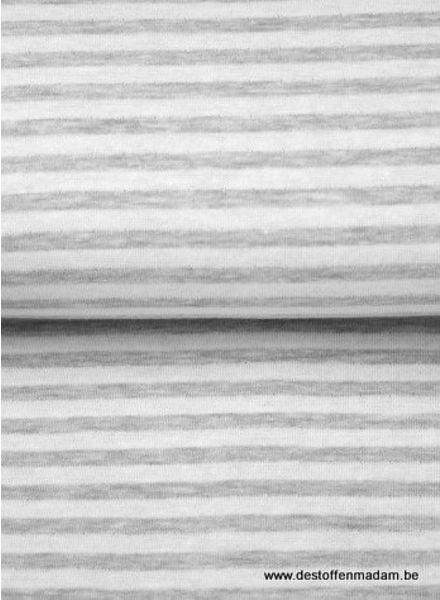 white/grey stripes - interlock