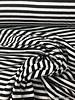 black/white stripes - interlock  S