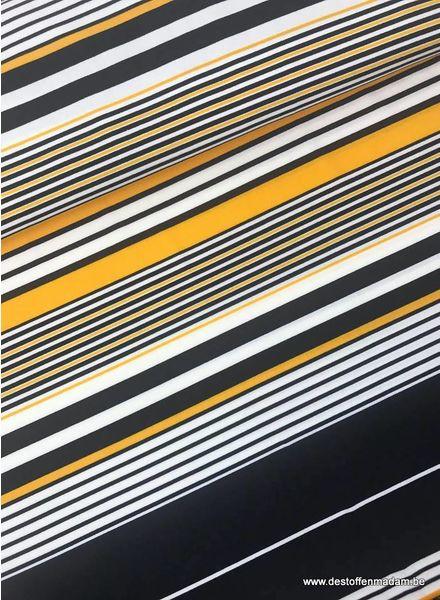gele strepen - scuba crepe S
