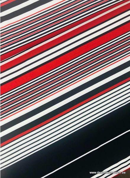 rode strepen - scuba crepe S