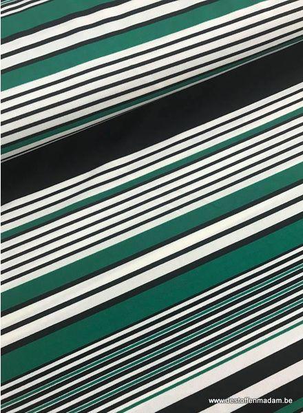 green stripes - scuba crepe S
