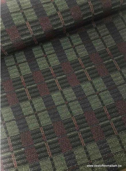 squares glitter - geweven jacquard