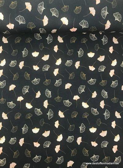 waaiers zwart - viscose tricot