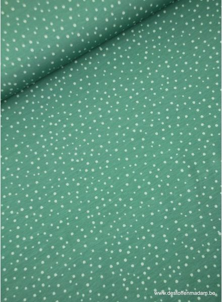 mint snowflakes - tricot