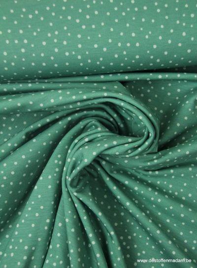 mint snowflakes - tricot