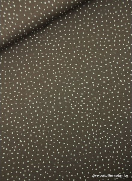 taupe snowflakes - jersey S