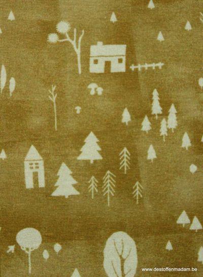 cozy garden ochre - jersey