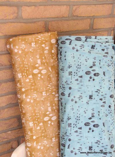 cozy garden oker - tricot