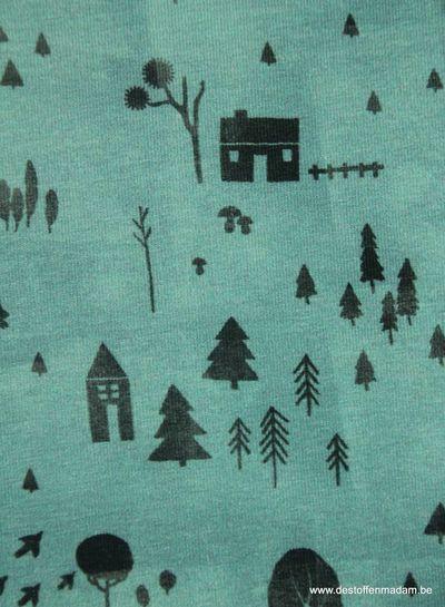 cozy garden blauw - tricot