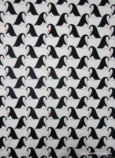 love the penguin white -  french terry