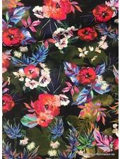 kleurrijke bloemen - Italiaanse soepelvallende stof