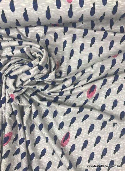 blauw millie - viscose tricot