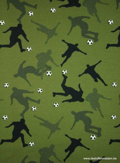 khaki voetballers schaduw - french terry S
