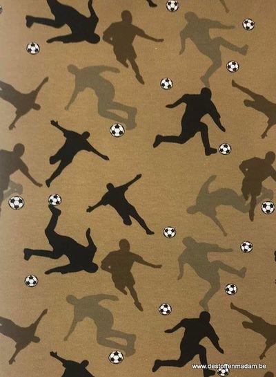 bruin voetballers schaduw - french terry
