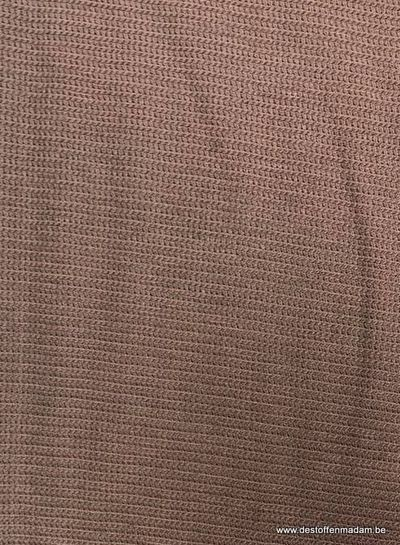 brown - textured knit  S