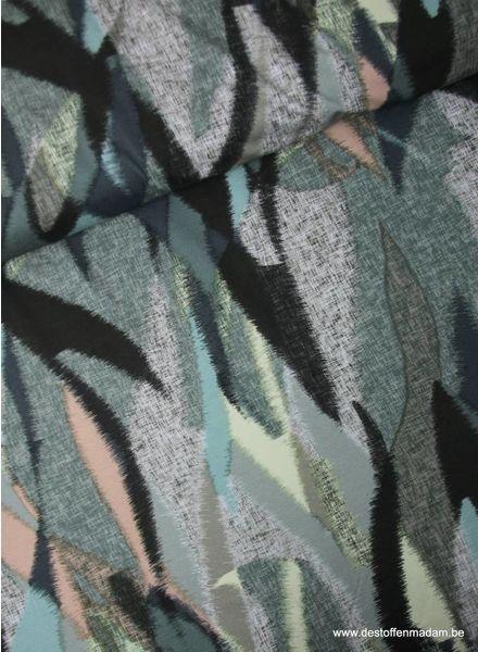 artistieke pastelkleurig -  viscose tricot