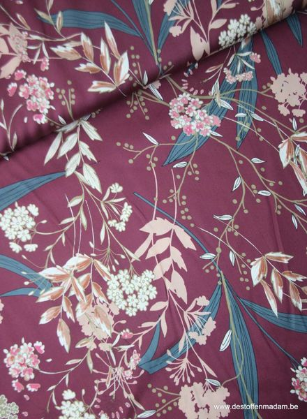 LMV - fantasy flower red - viscose