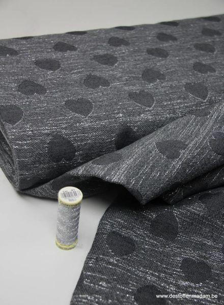 LMV - glitter hearts - woven jacquard -Suri coat