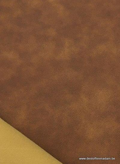 cognac kunstleer voor tassen